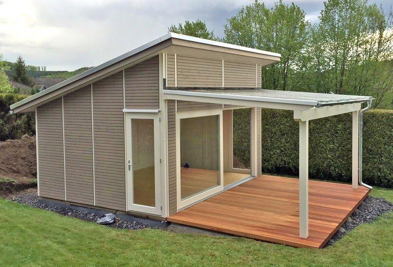 Gartenhaus Mit Glasdach Und Schiebetur Pollmeier Holzbau