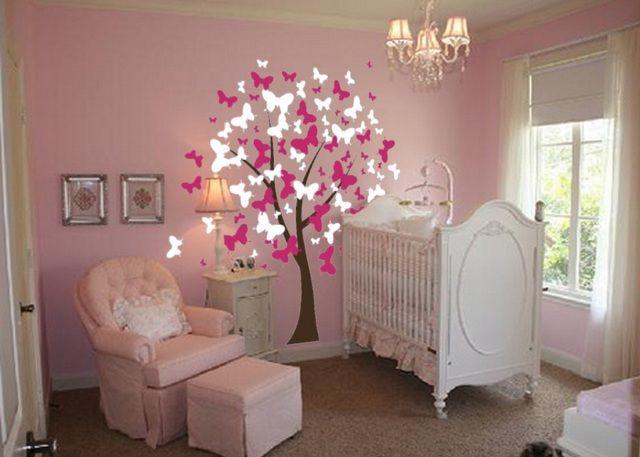 Genial Baby Girl Nursery Ideas With Butterflies In Baby Nursery