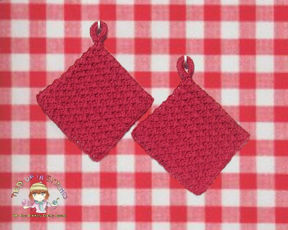 Red Kitchen Wall Decor Crochet Potholders Country Red Pot Holders Hot Pad Hot Mat Kitchen