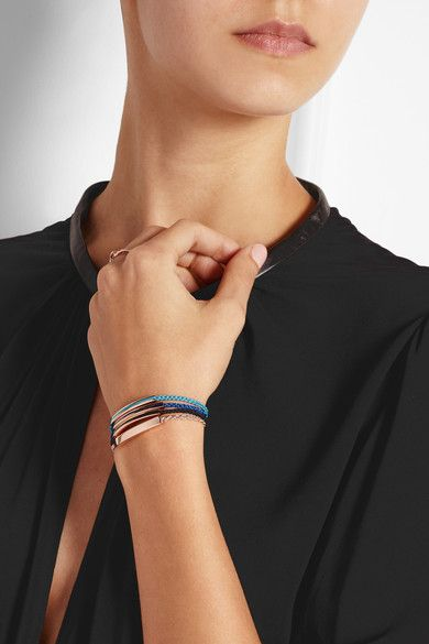 0b86427eb8f0a Monica Vinader | Linear Inlay rose gold-plated onyx bracelet | NET-A ...