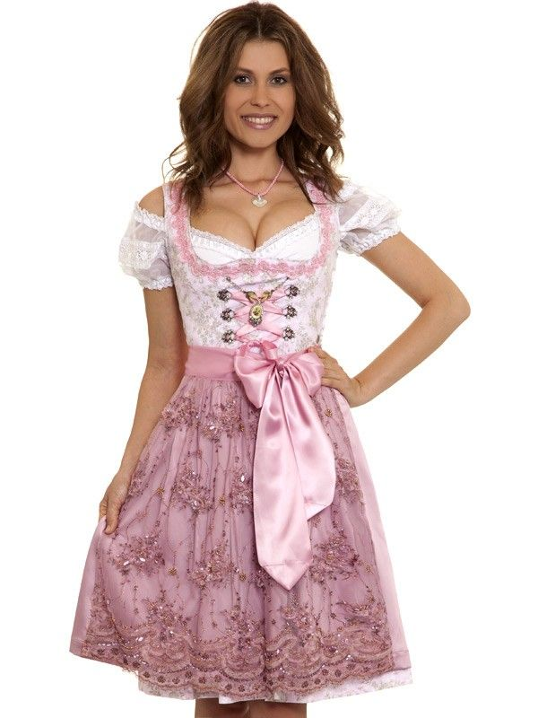 Dirndl Ina Mit Unterrock Rosa Marjo Traditional Dresses Dirndl Dress Dresses