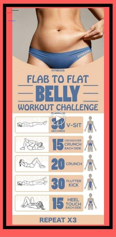 Flab To Flat Belly Workout Challenge #Gesundheit #Fitness #Training #Übung #Gewicht ... Flab To Flat...