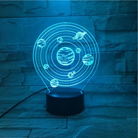 Solar System 3d Optical Illusion Led Lamp Hologram In 2020 3d Optical Illusions Optical Illusions Illusions