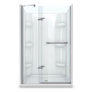 Maax Reveal 32 In X 48 In X 76 1 2 In Alcove Standard Shower