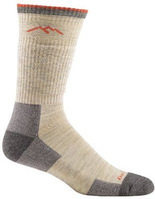 Darn Tough Vermont Men's Merino Wool Boot Cushion Hiking Socks, Oatmeal, Small
