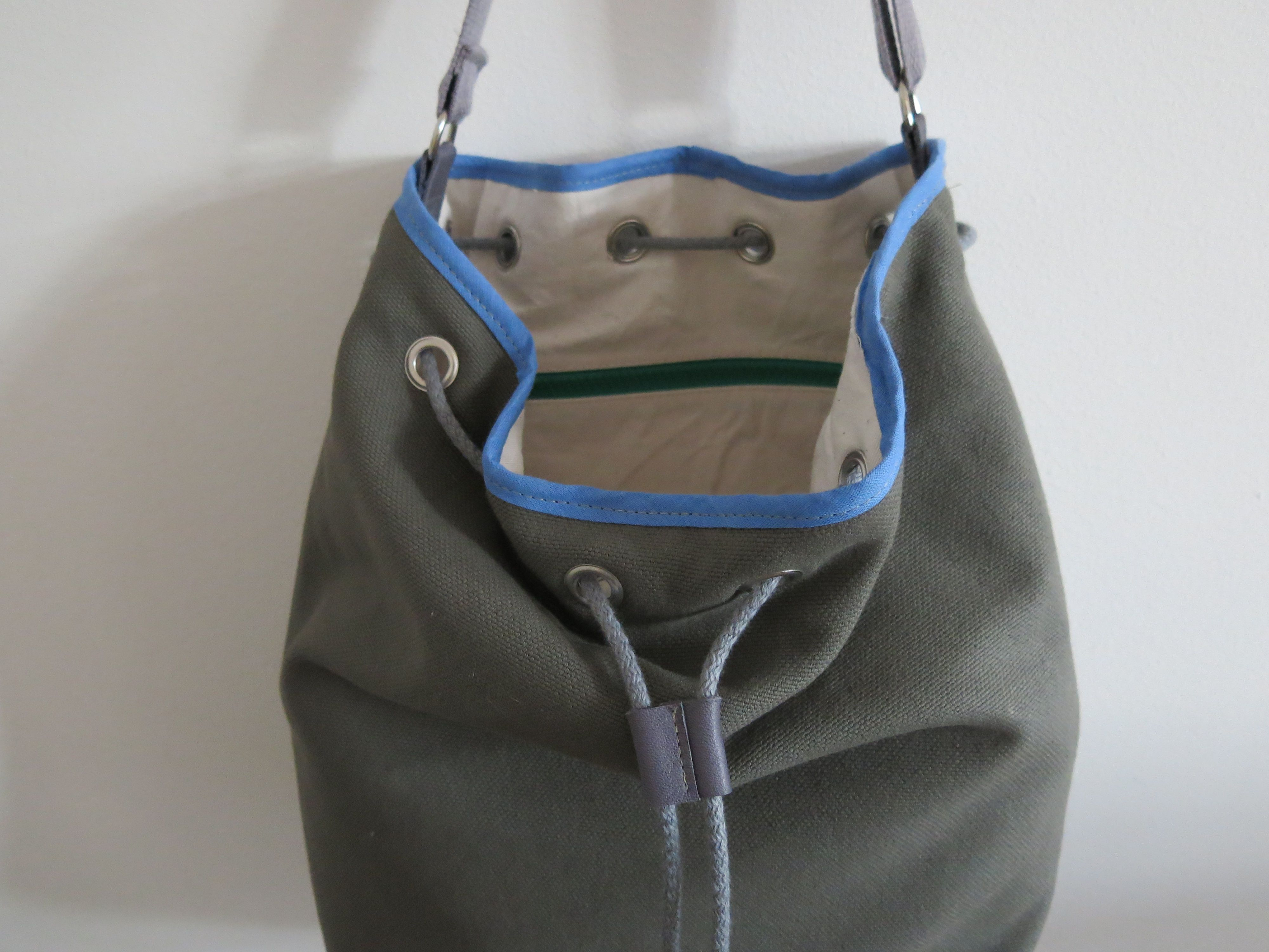 Diy sewing academy drawstring bucket bag sew pinterest for Drawstring jewelry bag pattern