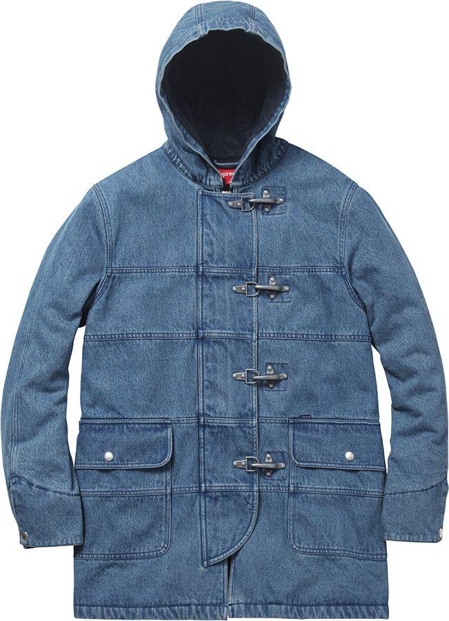 d15f4d12ca Supreme Hooded Firemans Coat   Parka   Winter jackets, Jackets, Coat