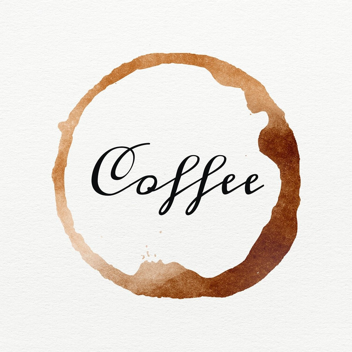 Word coffee on a brown coffee cup stain | free image by rawpixel.com / Wit in 2020 | Brown ...