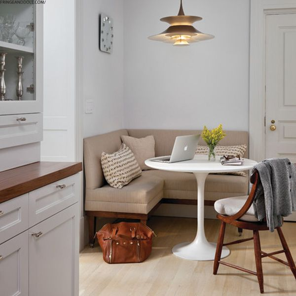 Corner Bench Seating For Kitchen Storage Table How To Style A Small Dining Space Pinterest Kitchens This Will Be Good Idea The We Re About Have