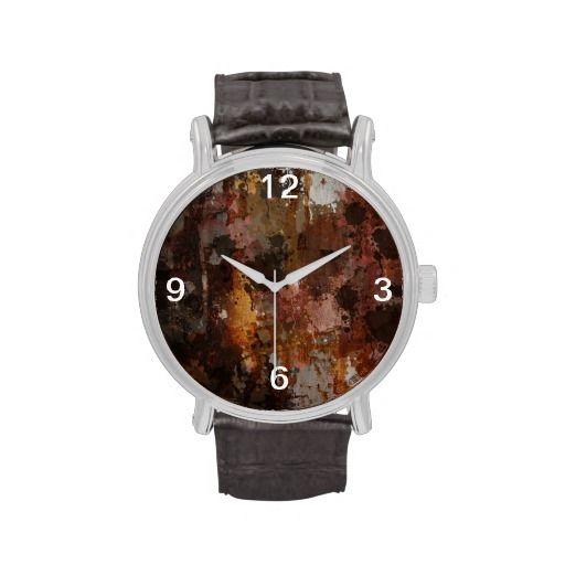 textura rustica relojes