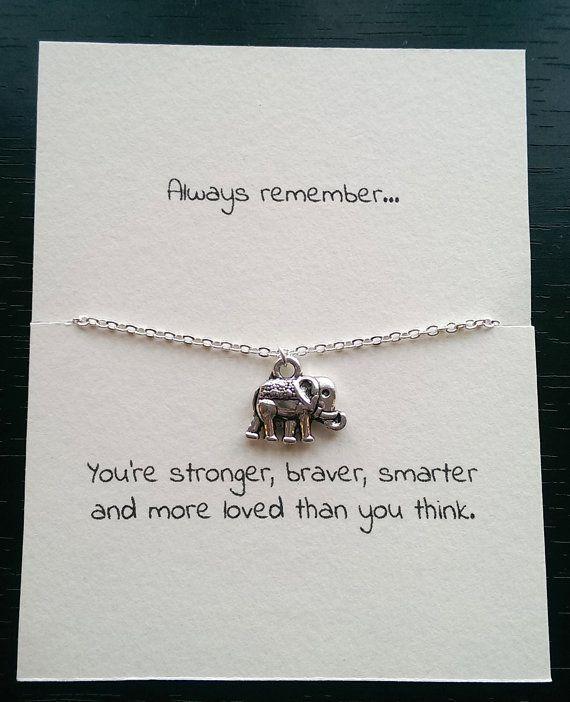 Elephant necklace, best friend gift, friendship necklace, sympathy gift, elephant charm necklace, mental health awareness, birthday gift - #awareness #Birthday #Charm #Elephant #forfriends #Friend #Friendship #Gift #Health #Mental #Necklace #sympathy