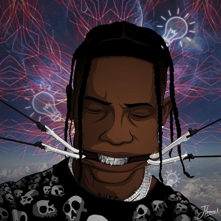 554 Likes 18 Comments Jason Luppino Illustrator Jtoonz On Instagram I M The Highest In The Room Trav Travis Scott Art Hip Hop Artwork Cartoon Art