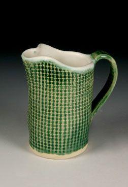 Stoneware pitcher by Marilyn Edington