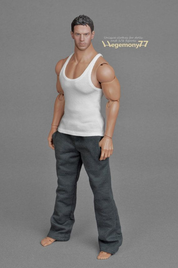 """1//6 White Shirt Sodier Boy Man Clothing for 12/"""" Action figure body model toy"""