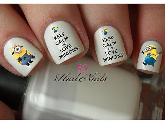 Hey, I found this really awesome Etsy listing at http://www.etsy.com/listing/162284724/minions-despicable-me-nail-art-water