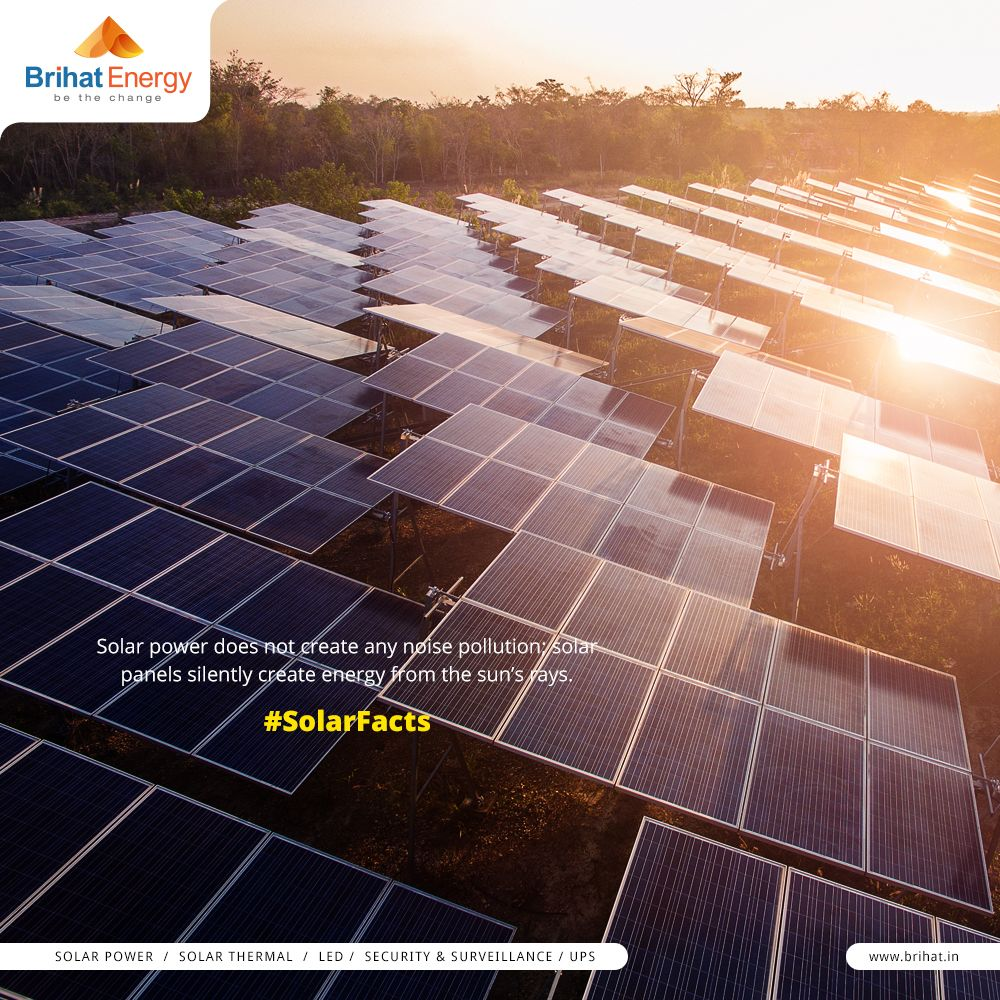 Solar Power Does Not Create Any Noise Pollution Solar Panels Silently Create Energy From The Sun S R With Images Solar Panels Solar Energy For Home Solar Energy Solutions