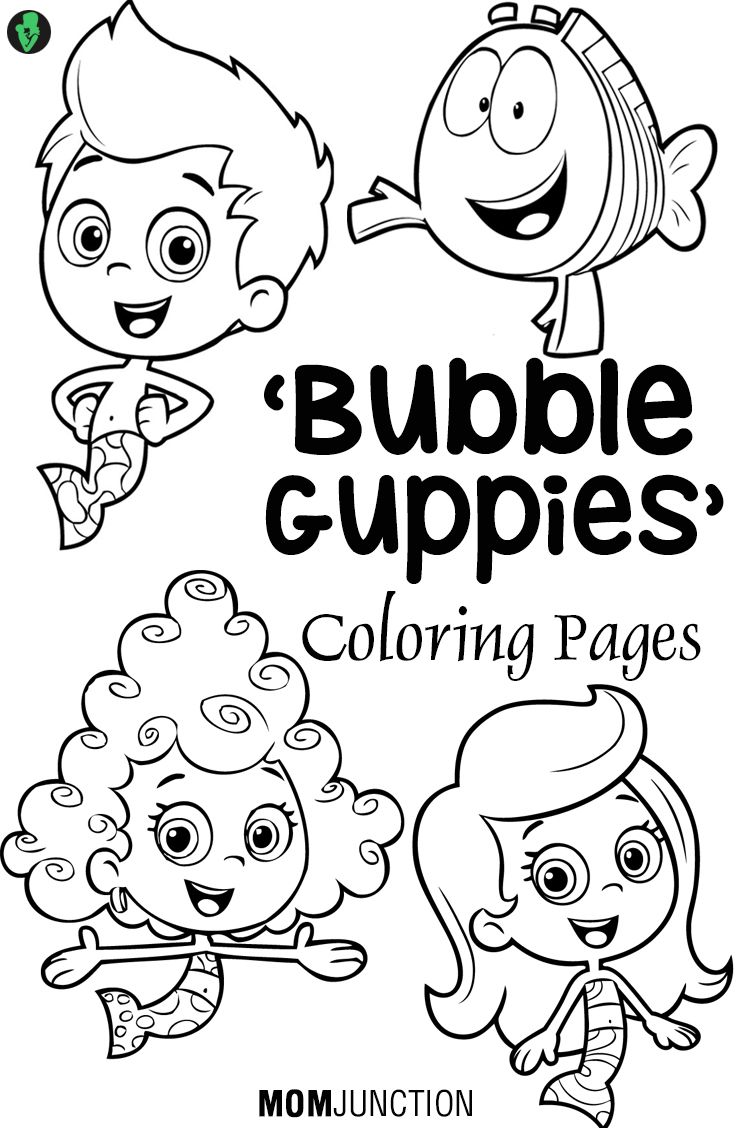 bubble guppies coloring pages 25 free printable sheets pinterest