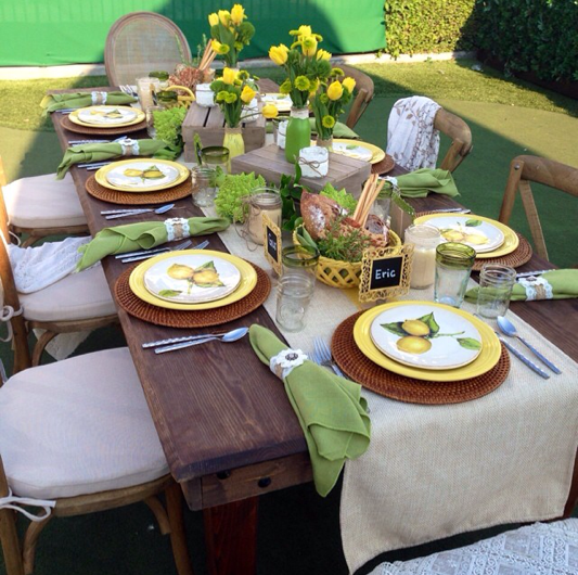 classic party rentals | table runners in textured linen or better