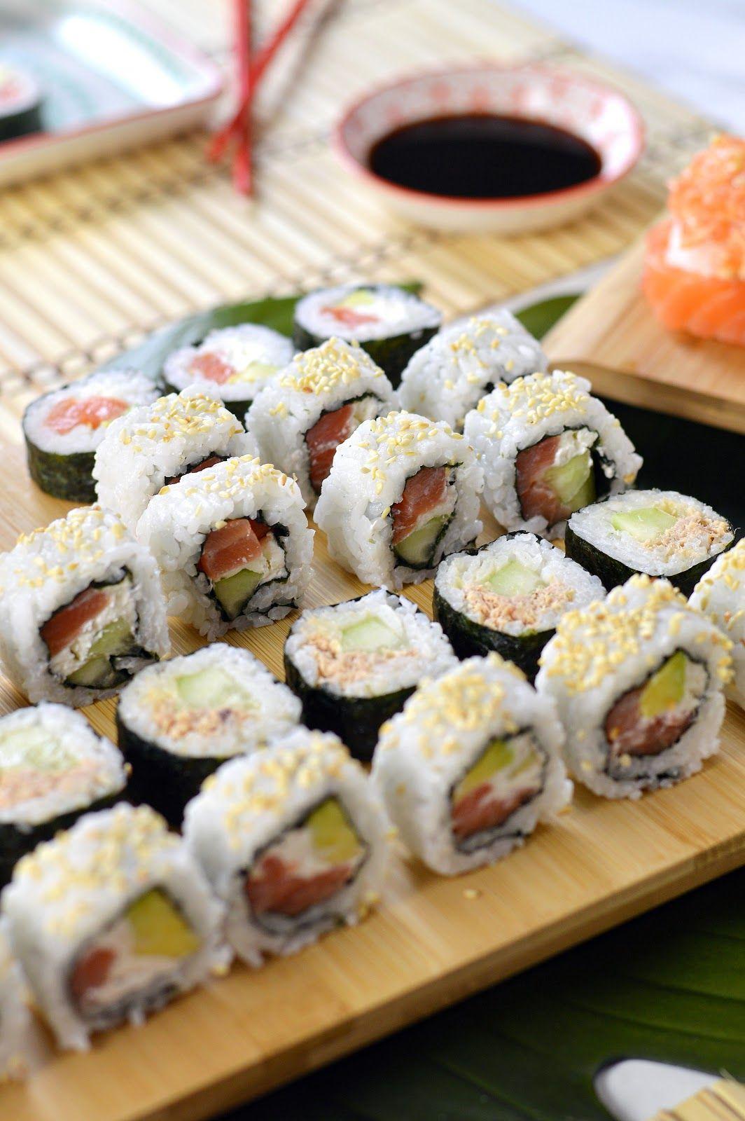 Homemade Sushi Uramaki E Futomaki Cucina Pinterest Sushi