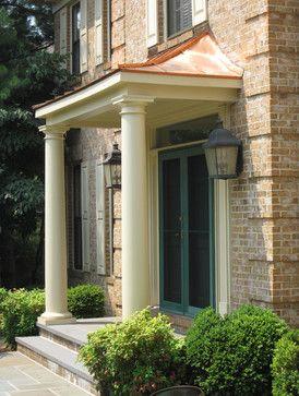 Cooper Portico Traditional Entry Portico Design Porch Design Front Porch Design
