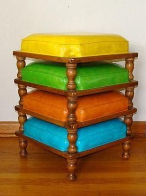 Purchased 3 Of These Vintage Ethan Allen Stackable
