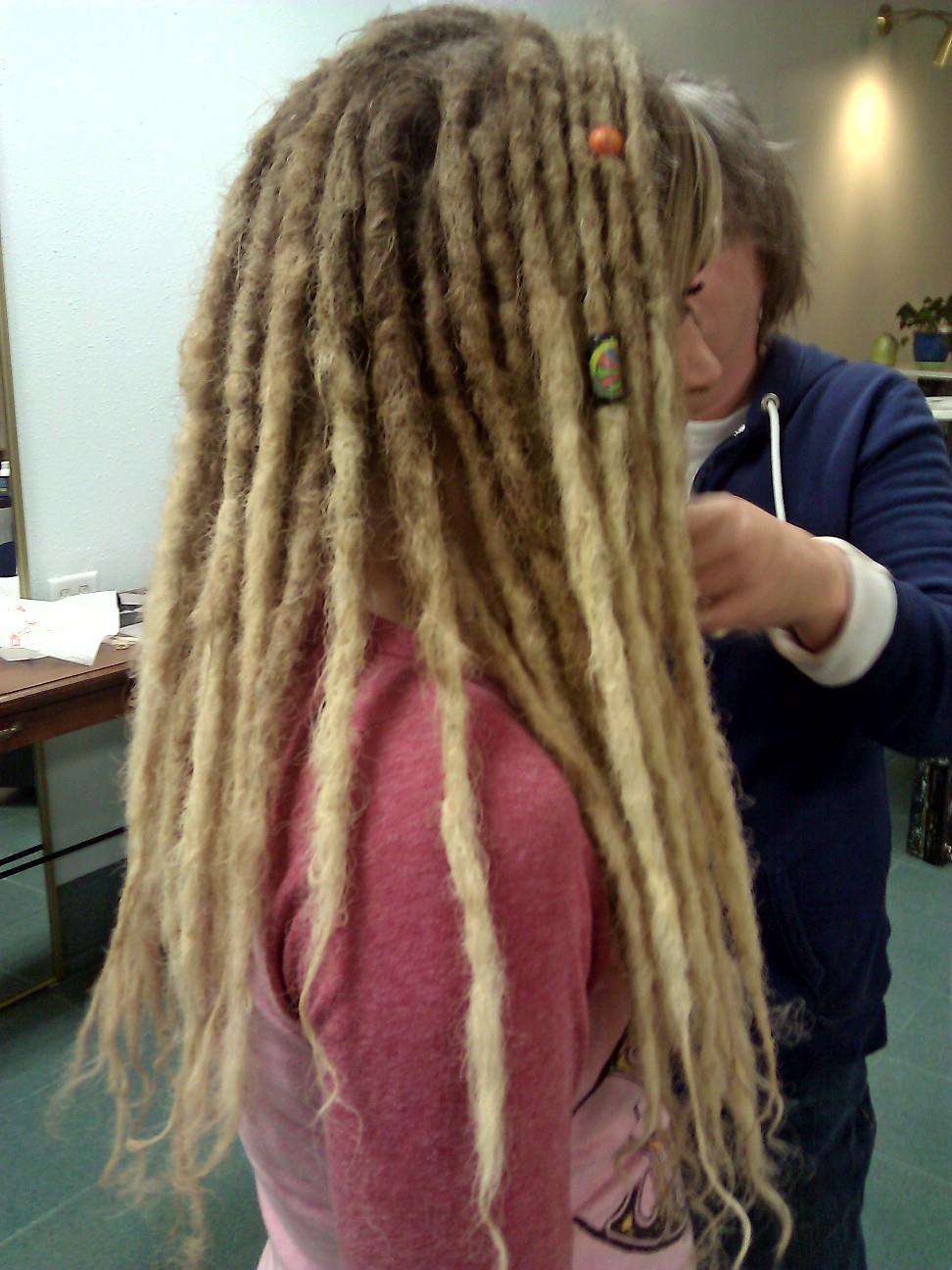 Dreads dreadlocks girl blonde dreads dreads
