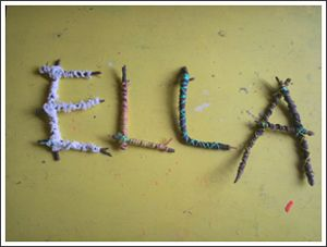 Stick letters, cool idea for the tweens!