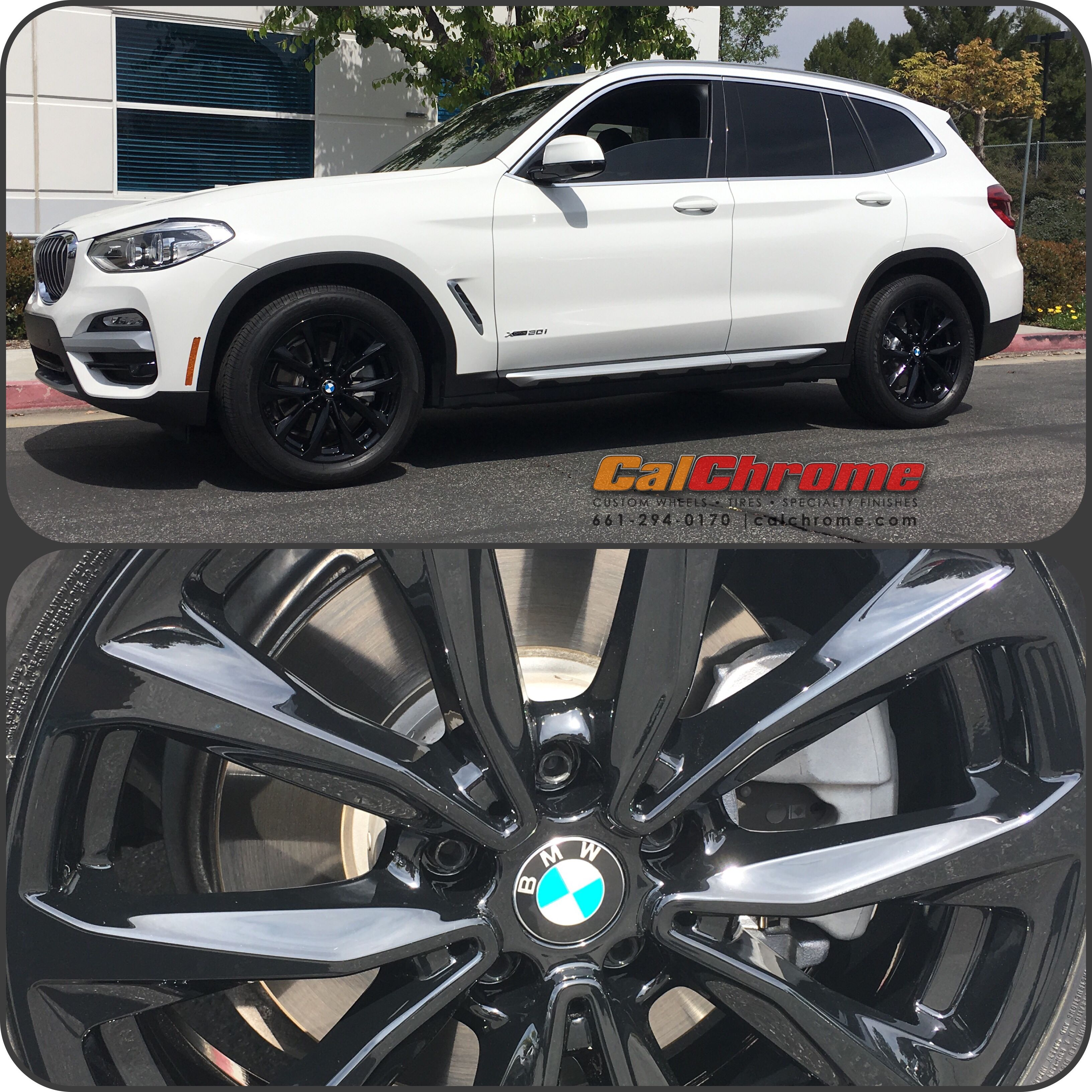 BMW X3 With The #calchrome #ultimatewetglossblack