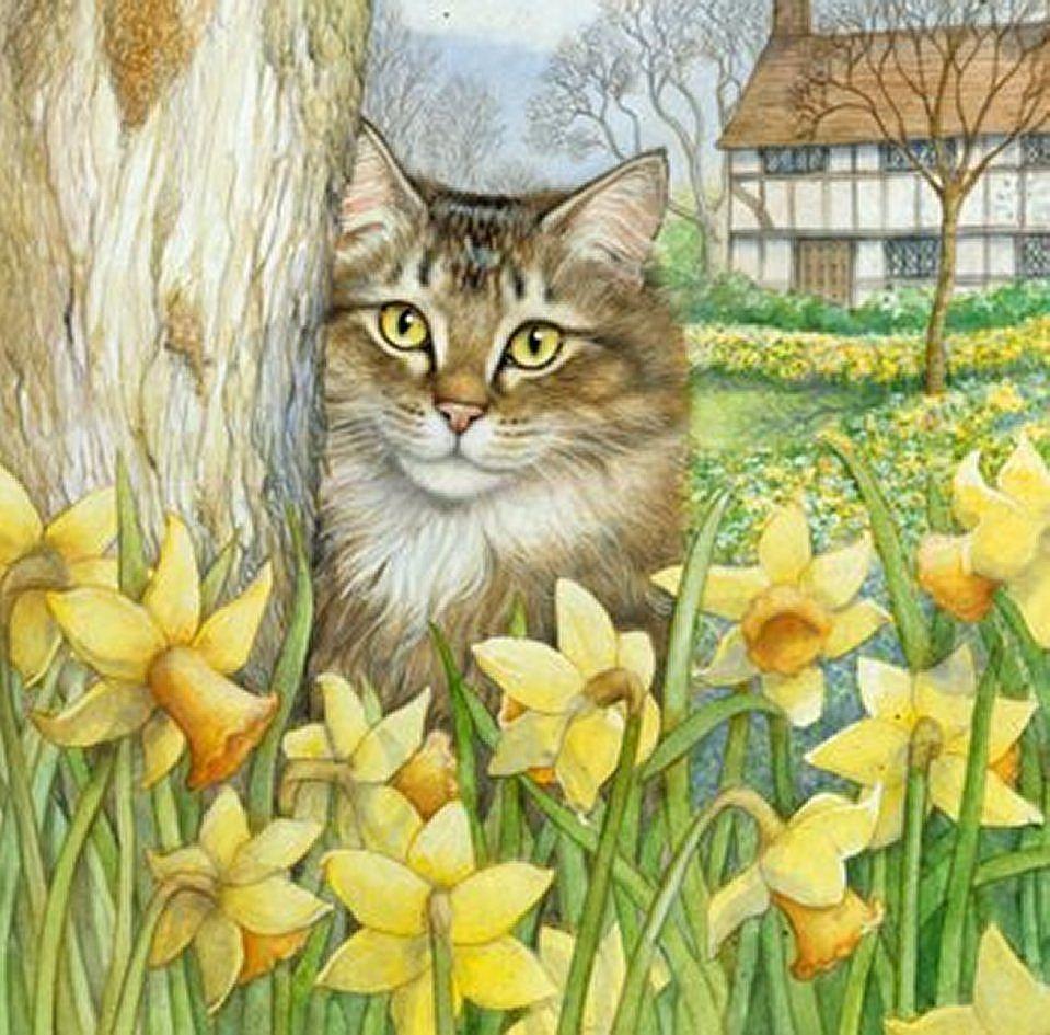 Pin by Ольга Жданова on коты   Pinterest   Cat, Artist and Dog