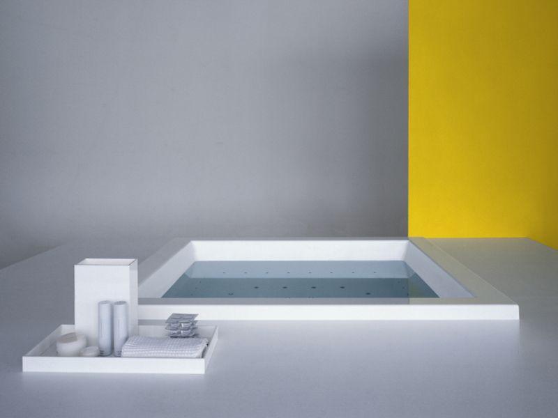 Vasca da bagno quadrata in metacrilato da incasso GRANDE