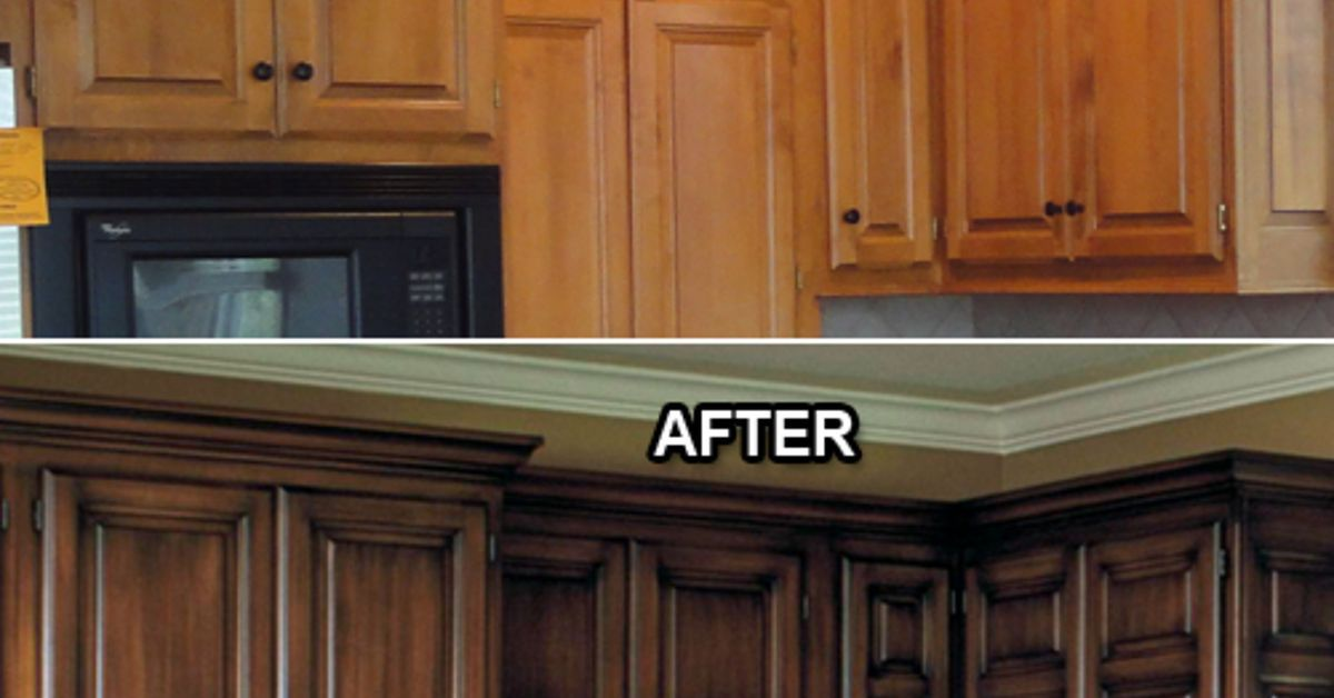 does anyone know of a faux glaze for kitchen cabinets interior