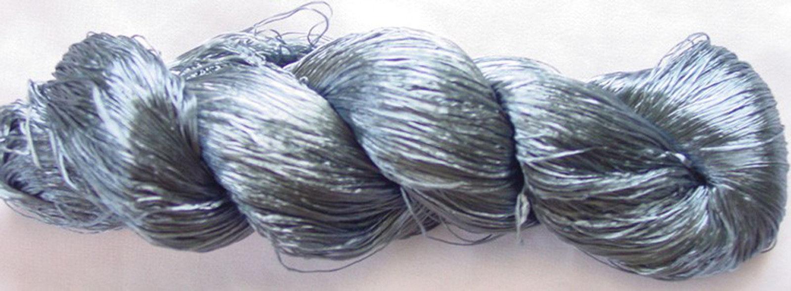 New Silk 1 PLY Skeins Yarn Lace Crochet 115g Woven Thread Knit Work Sari Fabric