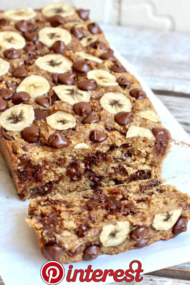 4Ingredient Flourless Chocolate Chip Banana Bread   Wonderful banana bread! I baked it for 30 minutes, but it would be better for 25, bc it came our a little dry  Despite this, the bread is total mag is part of Banana bread -