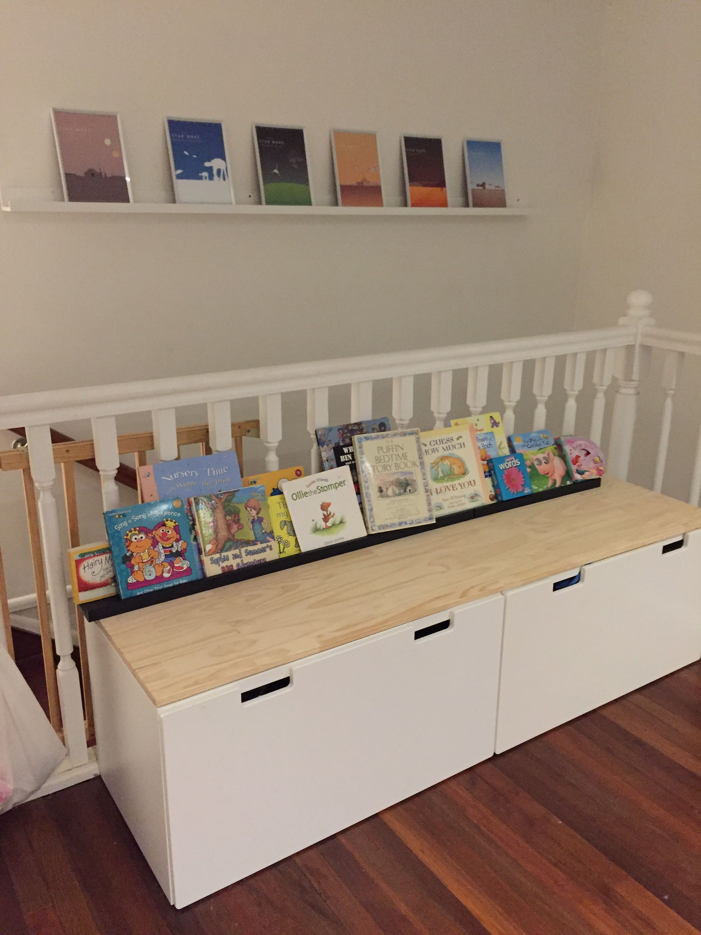 Ikea Hack Stuva Toy Boxes Scandi Look Picture Rail Book Holders