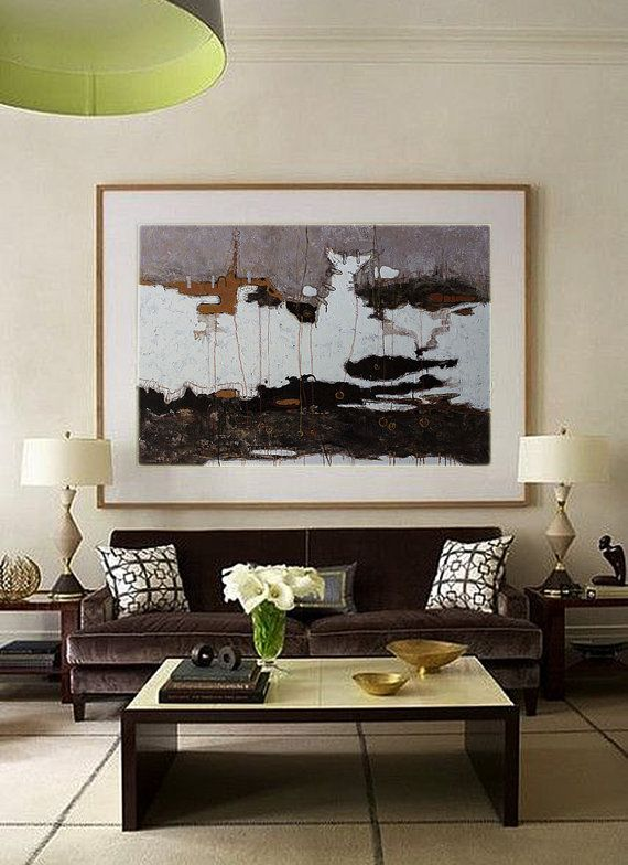 Hand Made Extra Large Contemporary Oil Painting Abstract Canvas Art Original Artworkblack