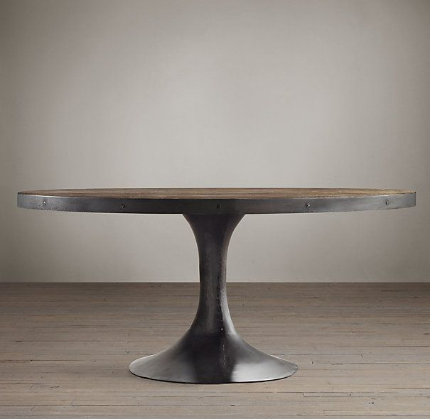 Aero Reclaimed Elm Oval Dining Table Kitchen Morning