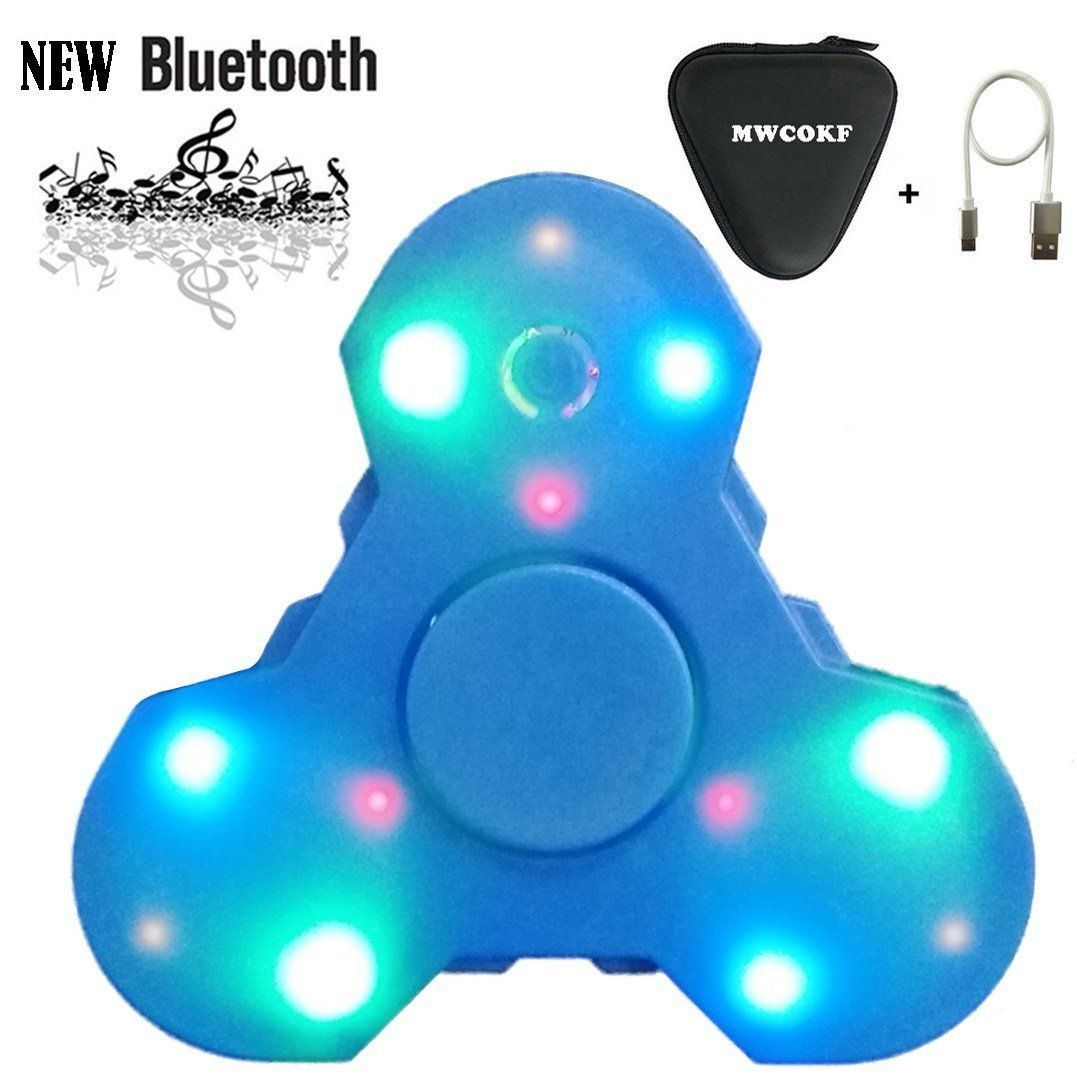 21bd093cd6060 LED Light Switch Bluetooth Speaker Music Fidget Spinner With ...