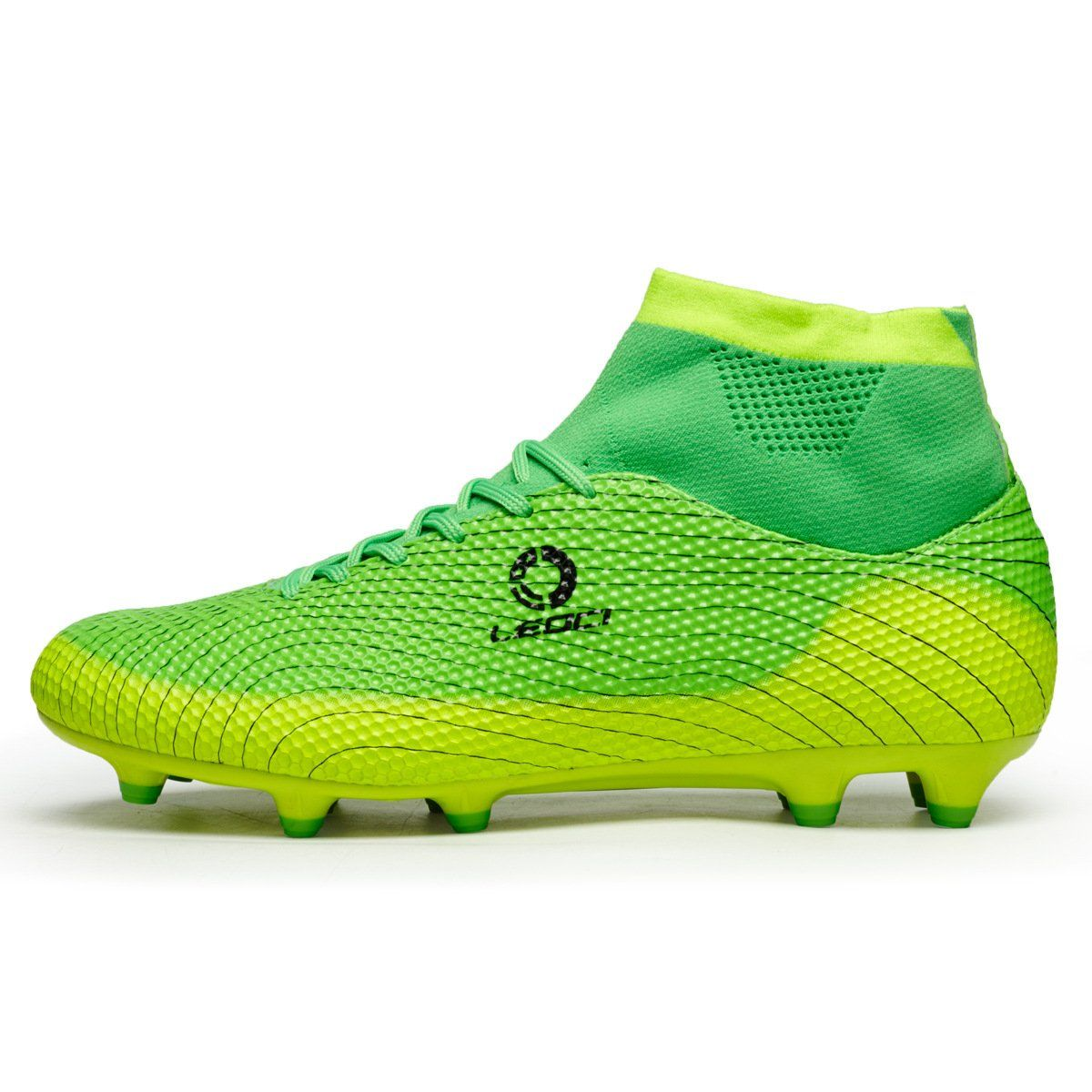 c743eb06b New Men Football Soccer Boots With Ankle Turf Soccer Shoe Leather ...