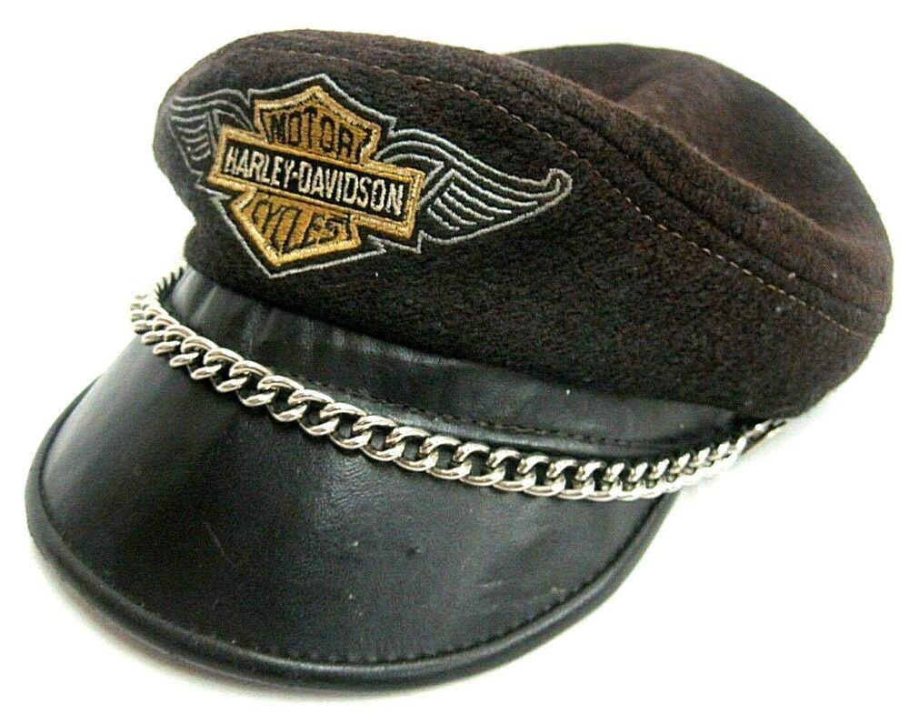 Harley Davidson Trucker Hat Black with Orange Harley Logo  |Vintage Harley Davidson Hats