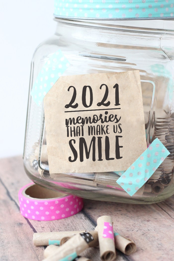 Free Printable 2021 Memory Jar Label Memory Jar Happy Jar Memory Jar Printable
