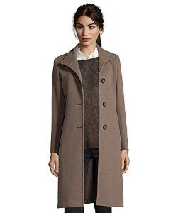 Cinzia Roccamocha wool blend stand collar button front coat