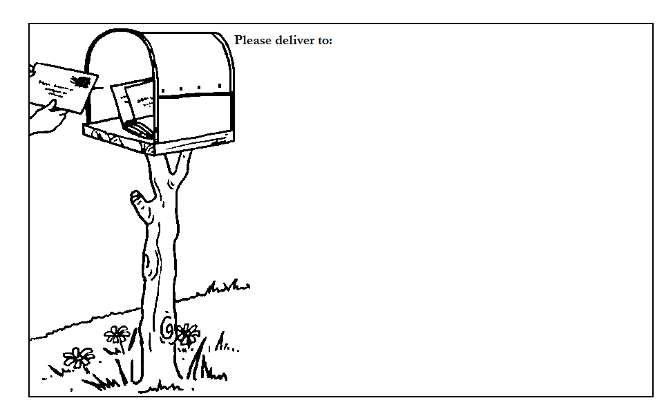 Rural Mailbox Label Black And White Drawing Clip Art Coloring Pages