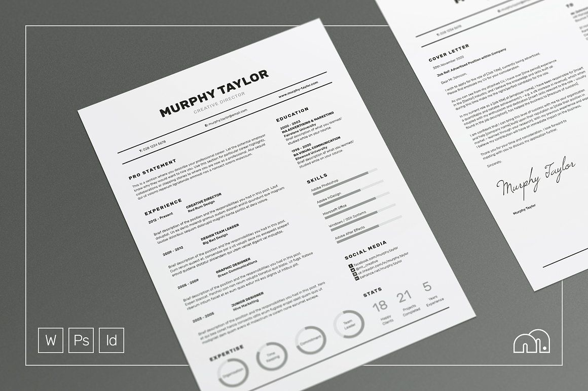 Resume Cv Murphy Free Cover Letter Cover Letter Template And