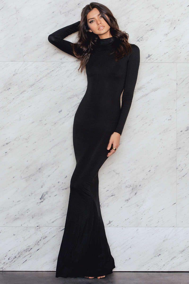 High neck dress maxi