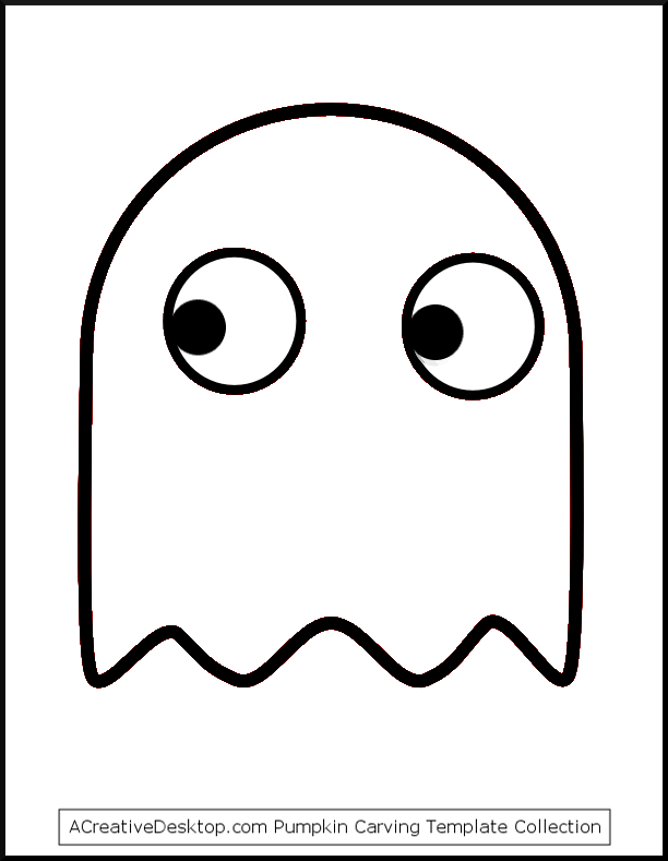 Free ghost pumpkin carving templates easy ghost patterns for Simple pumpkin stencils
