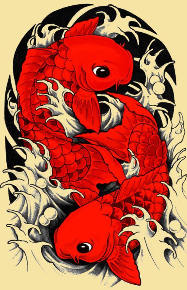 Koi Carp Japanese Art Print By Tshirtsz Japanese Tattoo Art Japanese Art Japanese Fish