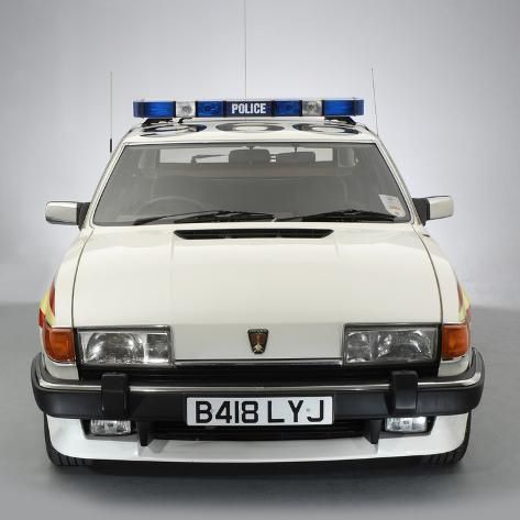 Photographic Print 1984 Rover Sd1 Police Car 16x16in In 2020 Police Cars Old Police Cars British Police Cars