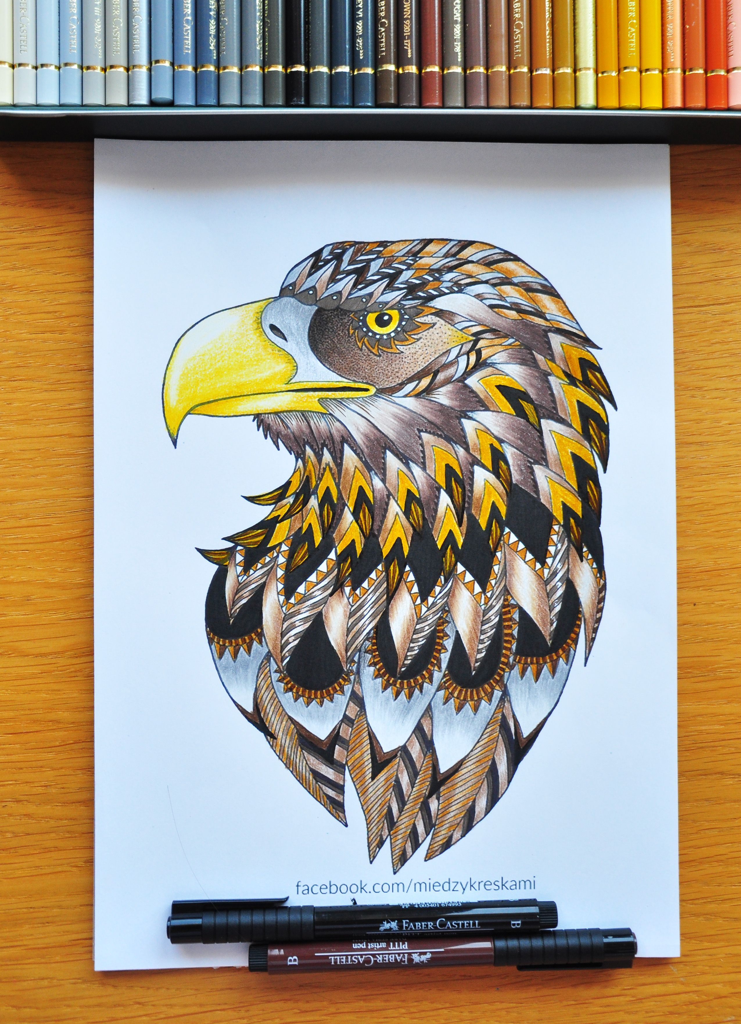 Eagle coloring page - Miedzy Kreskami - adult coloring pages ...