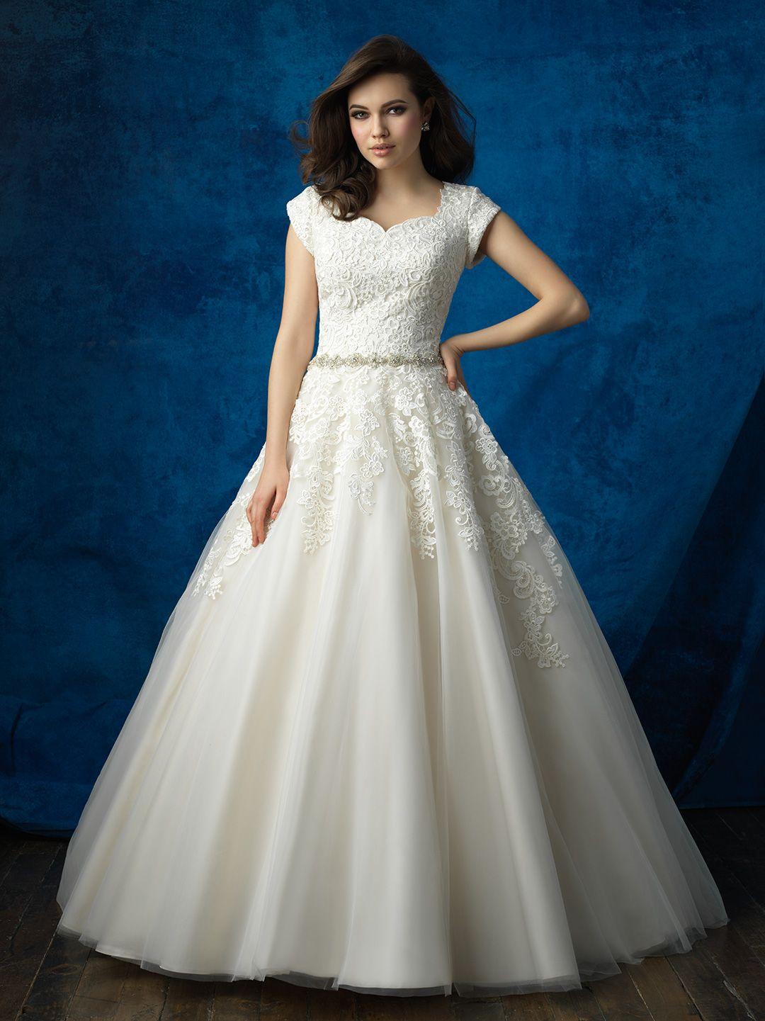 M543AB Modest bridal gowns, Modest wedding dresses