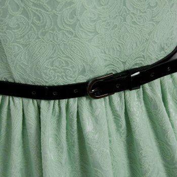ae74af16377a Audrey Pastel Green Brocade Swing Dress   Vintage Dresses - Lindy Bop